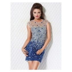 Cheap Concise Ribbons/Sashed Empire Waist Strapless Short/Mini-length Bridesmaid Dress Under Price 70 At Gifilight.com.