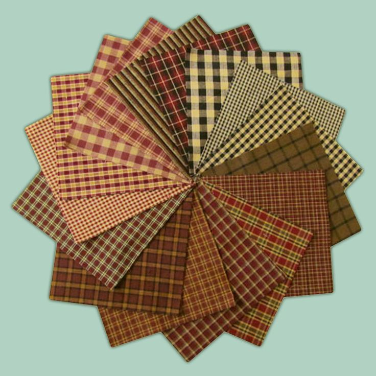 These warm rustic colors of red, black and brown are great by themselves or combined with other homespun plaids.  A homespun Charm Pack is always precut and ready for your own quilting project.  This set of 40+ six inch quilt squares is an assortment of  different rustic red primitive homespun plaid fabrics.  	 		 Farmhouse Red plaid Charm Pack assortment 	 		100% cotton homespun fabric 	 		Steam pressed and rotary cut 	 		Extra squares always included 	 		You will receive a total of 40…