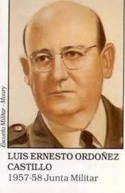 Militar y estadista nacido en Albán (Cundinamarca), el 7 de enero de 1914, muerto en Bogotá, el 19 de mayo de 1990. Miembro de la Junta Militar de Gobierno que reemplazó al general Gustavo Rojas Pinilla, el brigadier general Luis Ernesto Ordóñez Castillo gobernó entre el 10 de mayo de 1957 y el 7 de agosto de 1958. [...] El 7 de agosto de 1958 se retiró del servicio activo por voluntad propia. Durante el gobierno del presidente Julio César Turbay Ayala fue nombrado embajador de Colombia en…