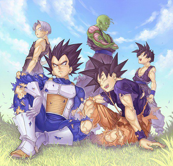 DBZ Vegeta, Piccolo, Goku, Trunks and Gohan