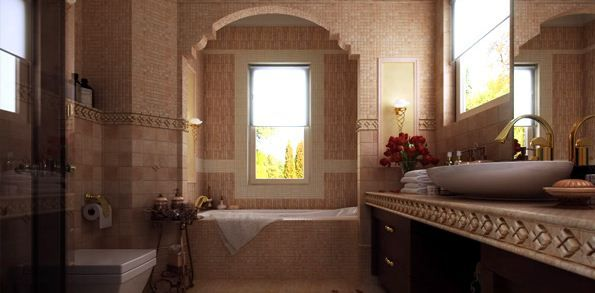Bathrooms Interiors for Better Function and Style : How To Decorate A Large Bathroom For Choose Materials For Decorating