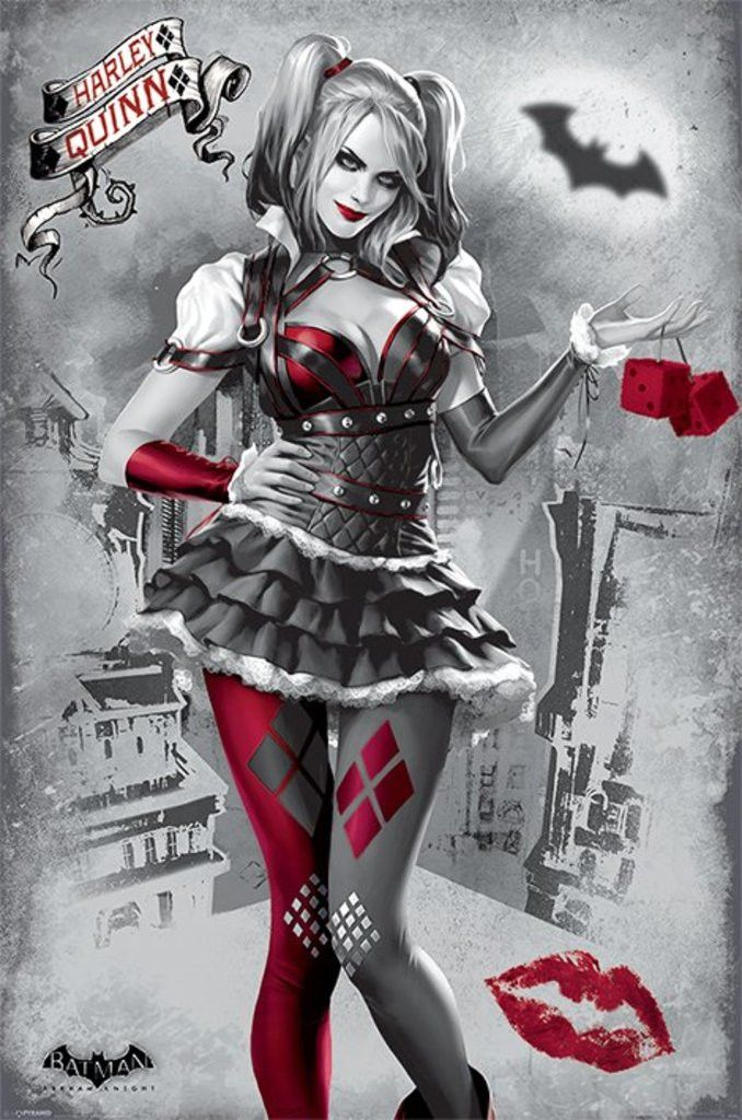 Batman Arkham Knight - Harley Quinn - Official Poster. Official Merchandise. Size: 61cm x 91.5cm. FREE SHIPPING