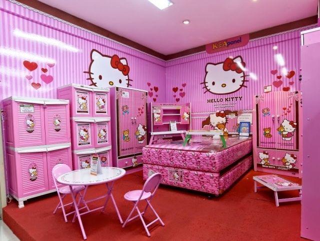 Cute Charming Hello Kitty Bedroom Decoration Tween Teenagers