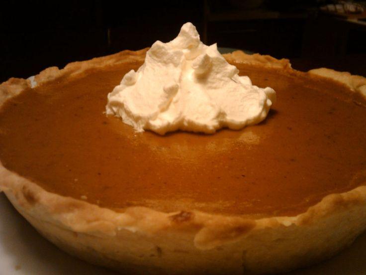 Tarta de calabaza (pumpkin pie). By MissBombones.
