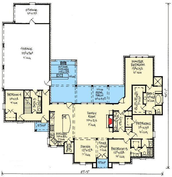 Country French House Plan With Bonus Room