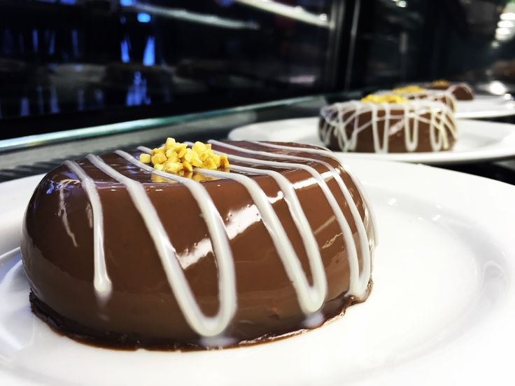 "Today's dessert special ""CHOCOLATE PANNA COTTA"" #special #dessert #pannacotta #galatabakery #braamies #braamfontein #johannesburg"