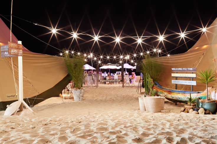 Margaret River Gourmet Escape - Tipi set up with festoon lighting - THE ZEST GROUP WA  - www.thezestgroupwa.com.au