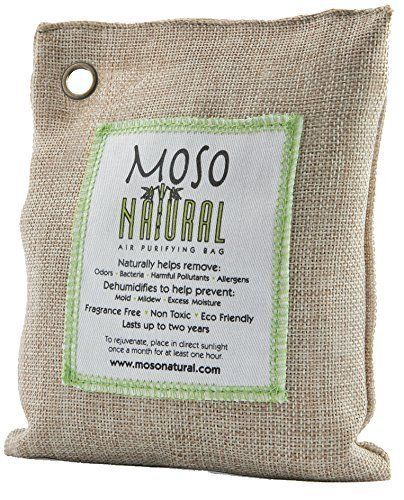Moso Natural Air Purifying Bag 200g. Naturally Removes Odors Allergens and Harmful Pollutants. Prevents Mold Mildew And Bacteria From Forming By Absorbing Excess Moisture. Fragrance Free Chemical Free And Non Toxic. Reuse For Up To Two Years.