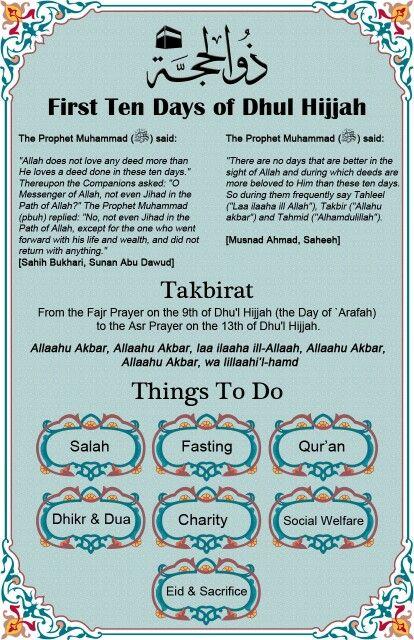 10 days dhul hijjah
