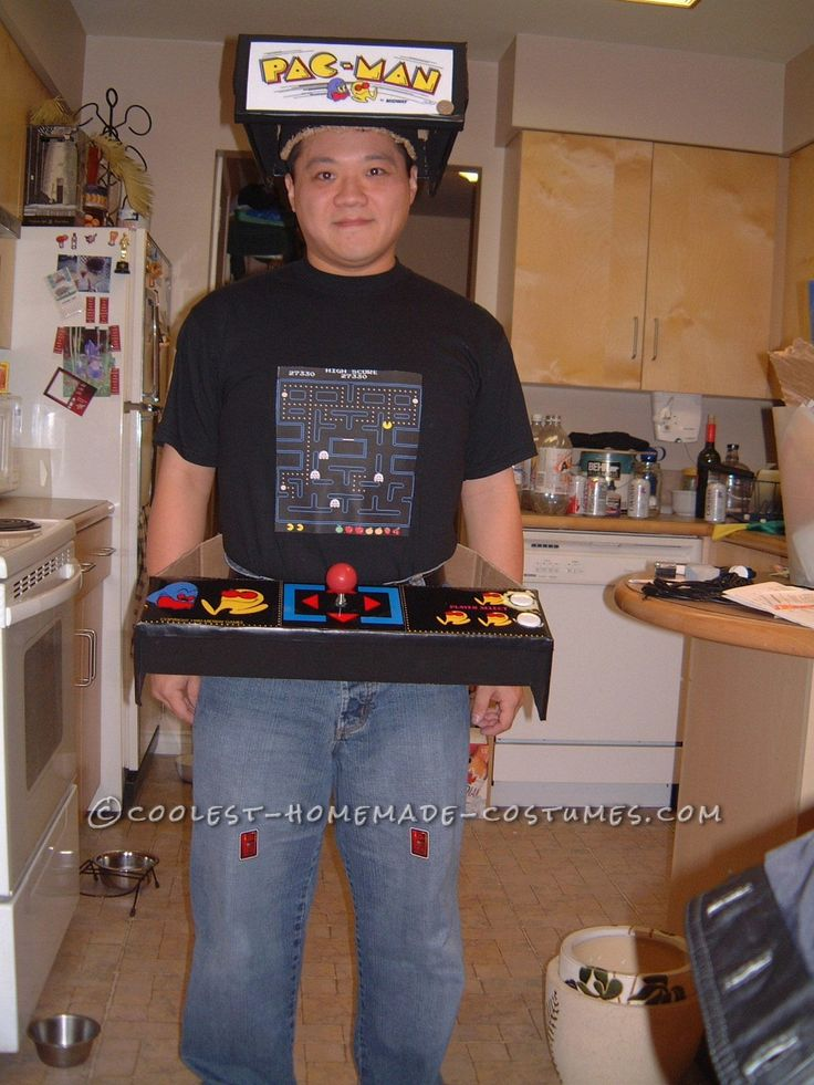 Easy and Original Pacman Machine Costume... This website is the Pinterest of costumes