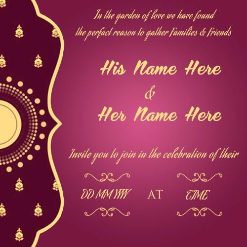 Free Online Wedding Invitation Cards: Free Engagement Invitation Templates Online Create Card