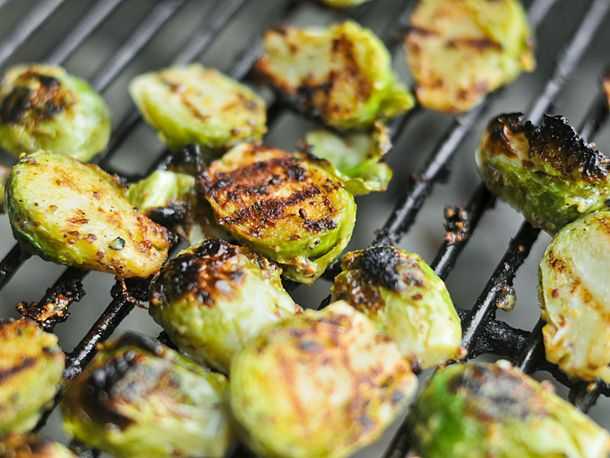 Crispy Grilled Mustard Brussels Sprouts. Yes, please.