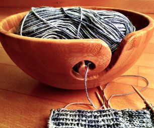 Instructions on how to make a unique bowl to help a knitter keep his or her yarn from getting tangled while working. Just make sure to use a bowl made of soft wood, like bamboo. (Might search Ikea or Kohl's.)