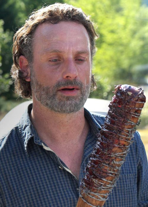 """ Rick with Lucille in The Walking Dead Season 7 Episode 4 