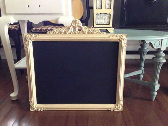 antique gesso framed chalkboard hand by