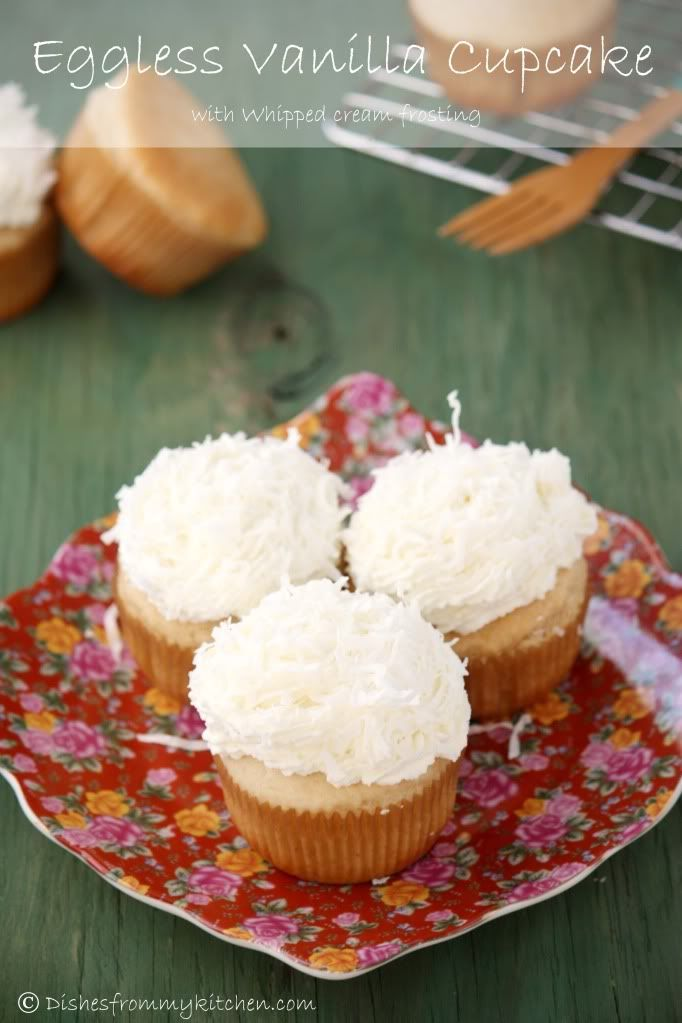 Dishesfrommykitchen: BEST EVER EGGLESS VANILLA CAKE/CUPCAKE !