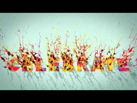"""Title animation """"Celebrate"""" white background"""