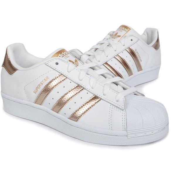 Adidas Originals Women\u0027s Superstar W Fashion Sneaker (Womens Rose Gold)