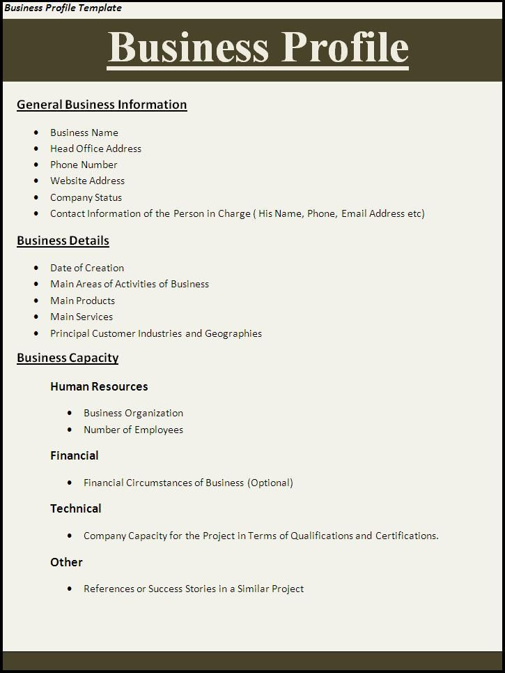 Dating profile template for word