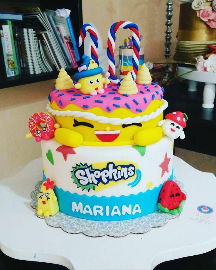 Pastel de Shopkins para mariana #CupcakesbyMJ