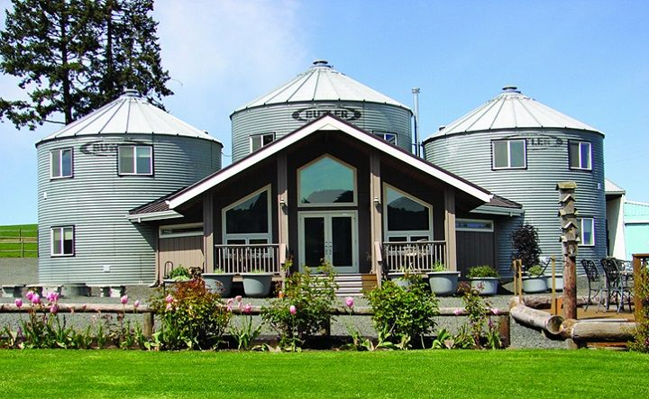 Old grain silos converted into a bed and breakfast! Love this