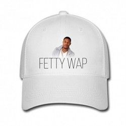 WhiteMUKIY Fetty Wap logo Design Baseball Caps Sun cap