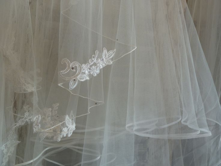 I love the subtle lace detailing on this veil! Available from Helena Fortley Bridal Boutique  www.helenafortley.co.uk