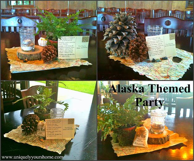 Uniquely Yours Home Centerpieces From An Alaska Themed