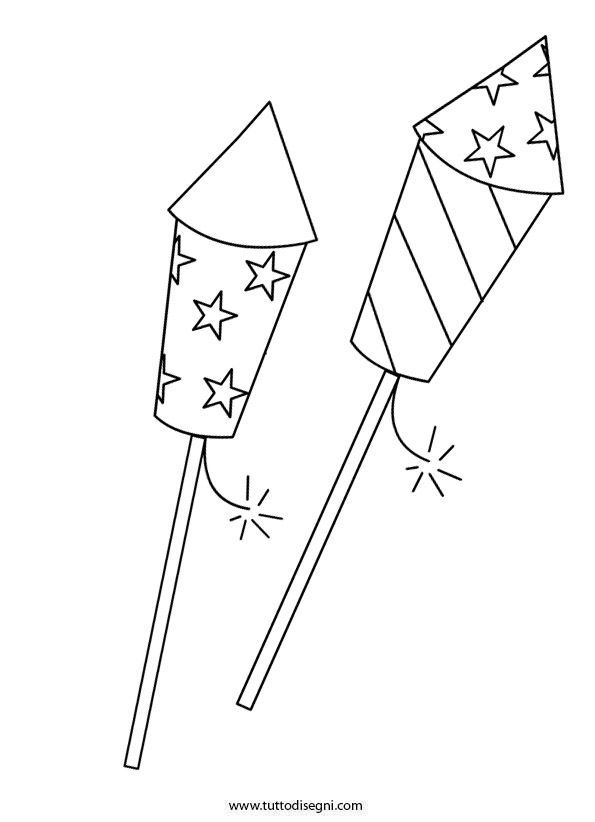fire work coloring pages - photo#36