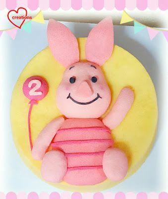 Loving Creations for You: Baby Piglet Strawberry-Orange Chiffon Cake