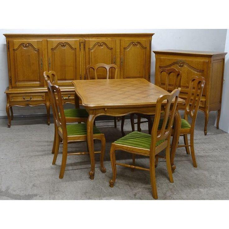 Винтажная гостинная (стол+6 стульев+шкаф+бар) стоимость комплекта 140 000 руб #всевопросывотсап89522884944#bufettaburet#мебель #антиквариат