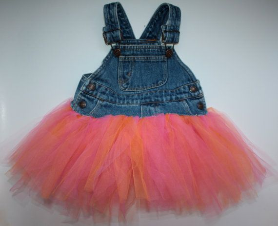 Overall tutu dress!! This is super cute and would be so easy to make  @Kelsey Myers Johnson @Jiena Marquez Harvey