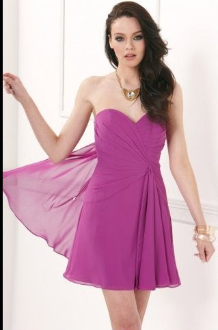 Sometimes, the simple dresses are the funnest to wear! Perfect for any wedding event.