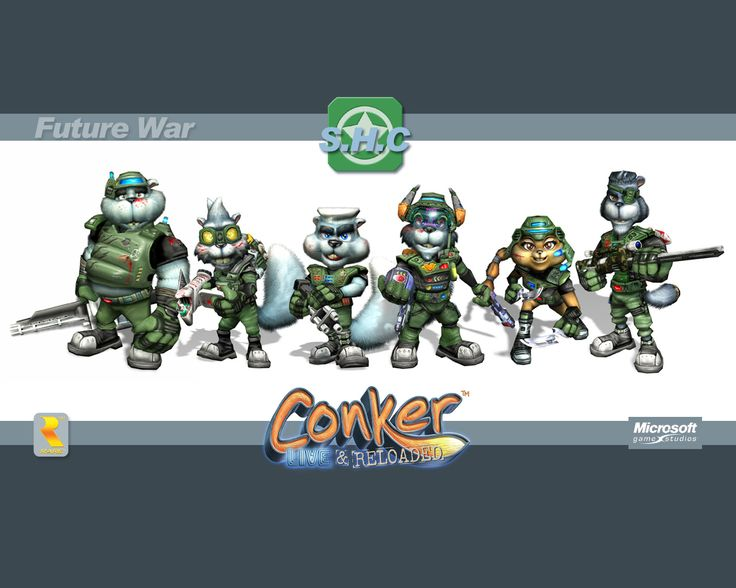the Squirrel High Command (Future War version) from Conker: Live and Reloaded. official wallpaper.