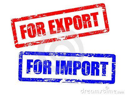 Para a importação e para selos da exportação