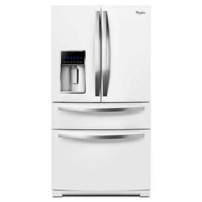 Whirlpool 24.5 cu. ft. French Door Refrigerator in Monochromatic Stainless Steel-WRX735SDBM - The Home Depot