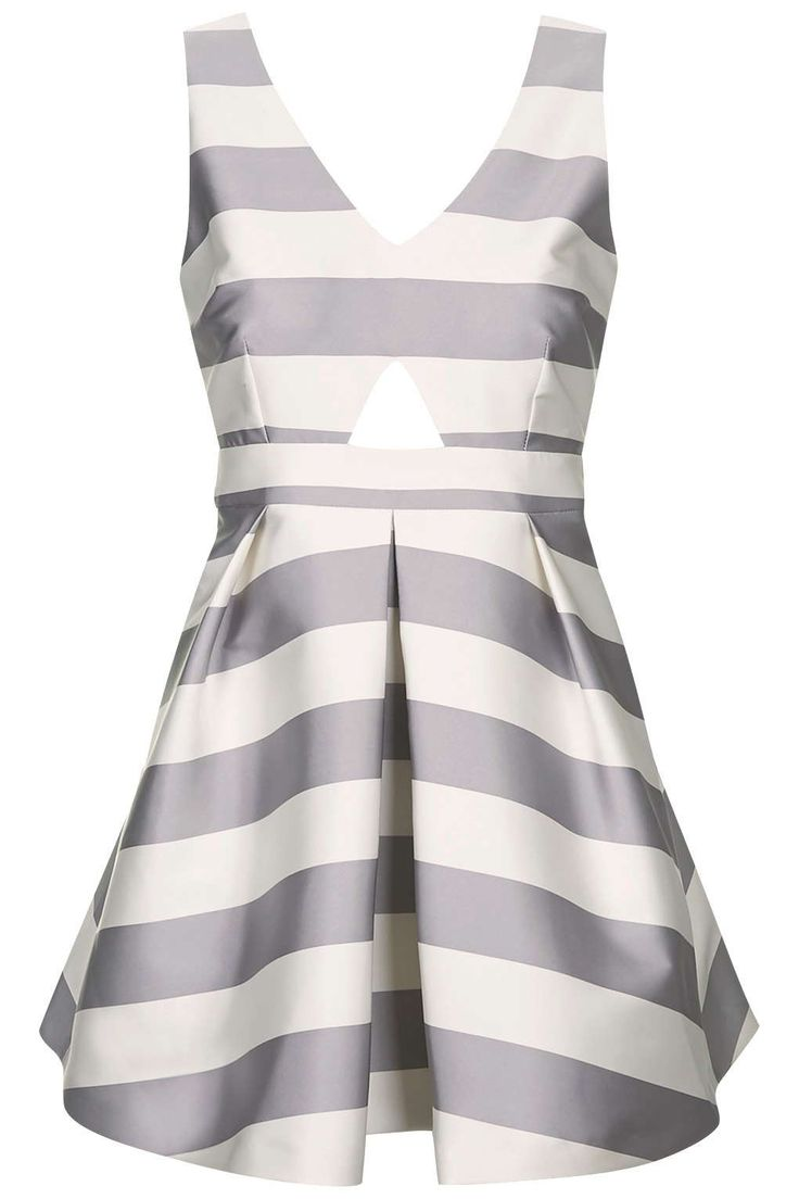 Photo 1 of PETITE Cut-Out Stripe Prom Dress
