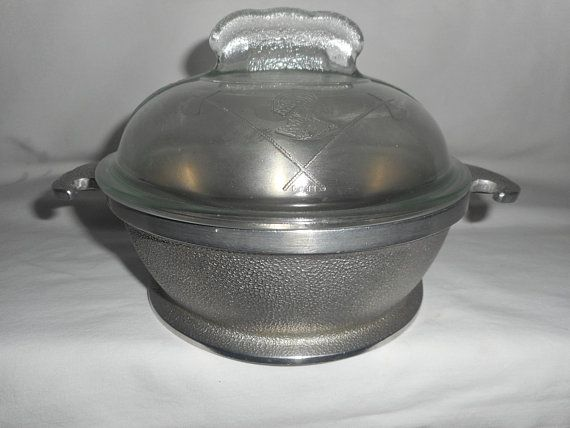 Guardian Service Cast Aluminum 1 Qt Pot With Glass Lid 1930s 1950s Cookware 1950s Cookware It Cast Aluminum
