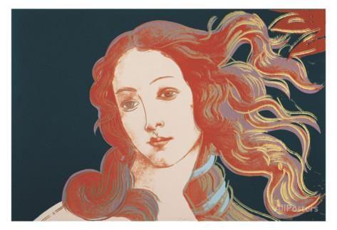 Details of Renaissance Paintings (Sandro Botticelli, Birth of Venus, 1482), 1984 Poster von Andy Warhol bei AllPosters.de