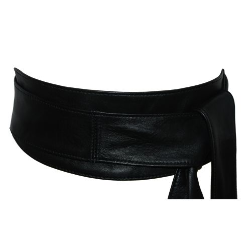 Soft Black Leather Obi Belt From The Latest Thing Hand