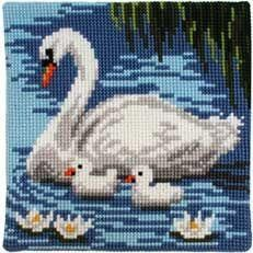 Birds swan cross stitch.