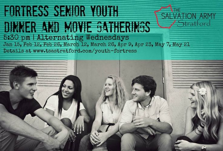 Fortress Senior Youth Dinner & Movie Gatherings | Alternating Wed in 2014 www.tsastratford.com/youth-fortress