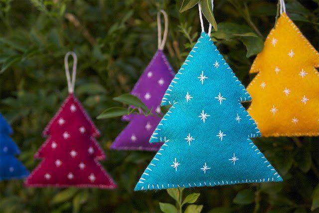 Vilt is vrij gemakkelijk om mee te werken… hiermee maak je de leukste kerstversieringen!