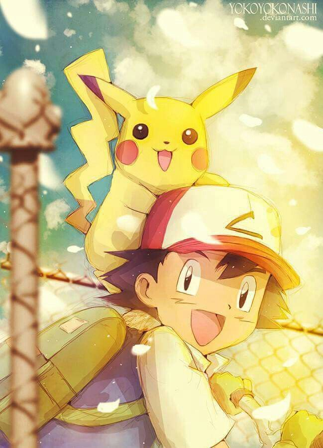Beautiful ♡ Ash and Pikachu ^.^ ♡ I give good credit to whoever made this
