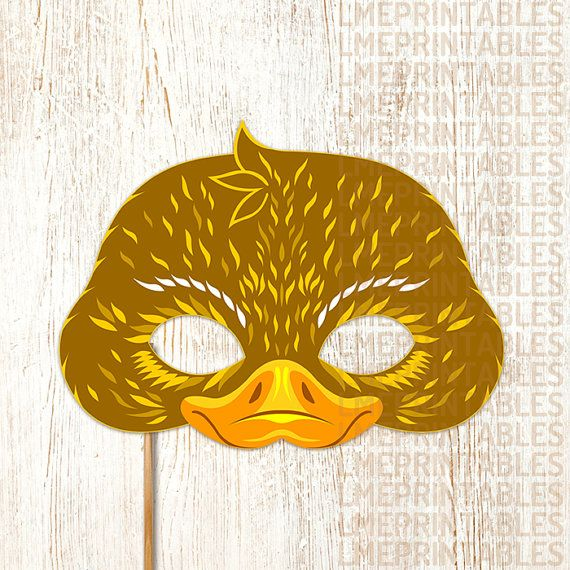 Duck Mask PDF File Ready to Print Cut and Enjoy! This item Include: • PDF files ready for printing and instructions for making the mask. • JPG files ready for printing and instructions for making the mask. Features: • Large eye holes for wearing comfort. • Paper Format A4: 21 x 29,7