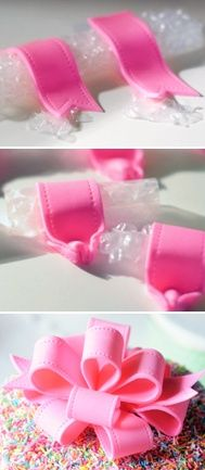 How to Make an Edible Looped Bow