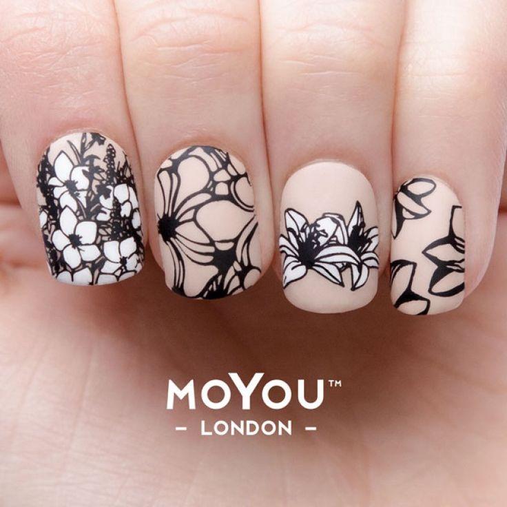 сила цветов для ногтей искусства маникюр 04