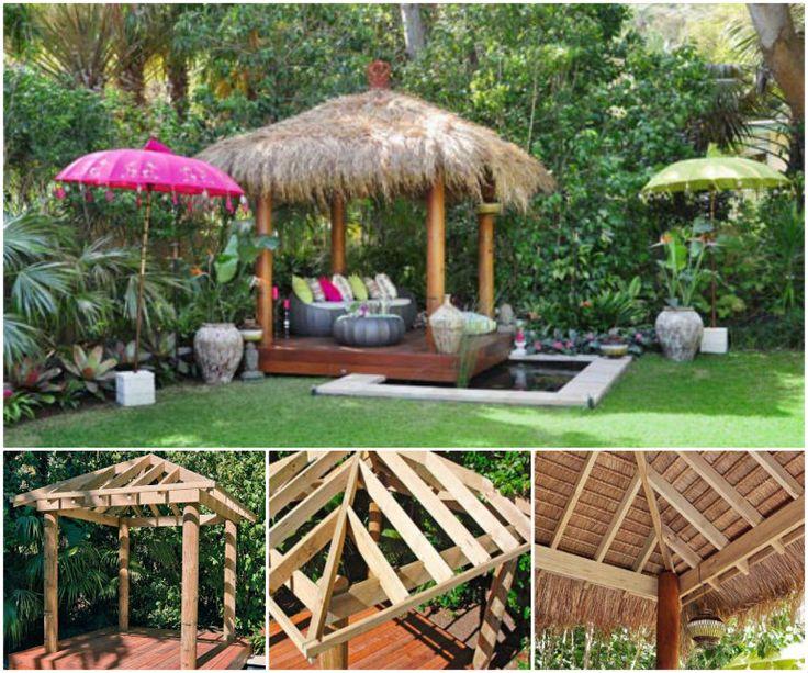 DIY Bali Hut Outdoors Pinterest Backyard Gardens