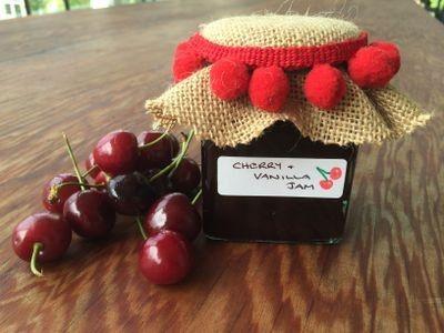 Cherry and Vanilla Pod Jam