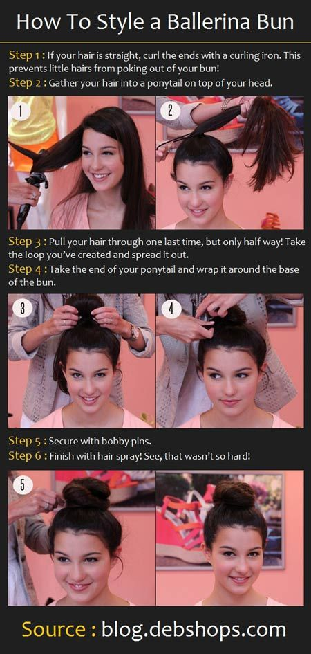 #How to style a Ballerina Buns  ##Repin.....LIke .....Share ! Thanks